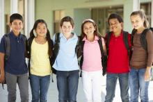Students at school together