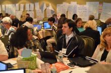 NTI participants working together