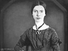 Daguerreotype of the poet Emily Dickinson, taken circa 1848, published before 1923 and public domain in the US