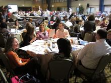 large group of educators at conference