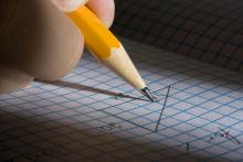Graph and pencil
