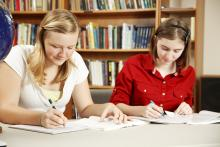 Girls Studying Together